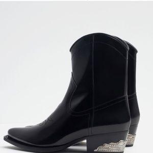 Zara metal heel boots